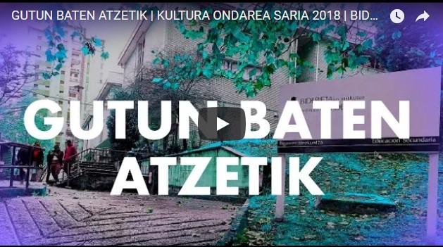 Kultura  Ondarea  Saria  irabazi  dute  Bidebieta  Institutuko  sei  ikaslek