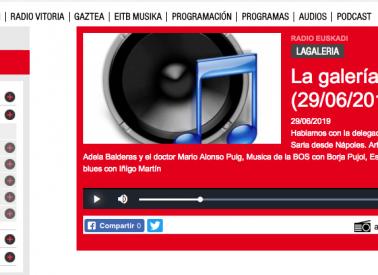 Kultura Ondarea Saria en Radio Euskadi